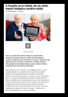 E-Poradňa nie je všeliek, ale vie rýchlo doplniť chýbajúce sociálne služby